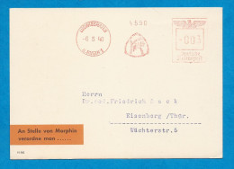 POSTKARTE   Publicitév Dilaudio Affranchi à 003 Deutche Reichpost  Oblitération: Ludwigshafen 6-5-1940 - Cartas