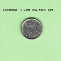NETHERLANDS    10  CENTS  1963   (KM # 182) - [ 3] 1815-… : Kingdom Of The Netherlands