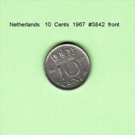 NETHERLANDS    10  CENTS  1967   (KM # 182) - [ 3] 1815-… : Kingdom Of The Netherlands