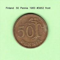 FINLAND    50  PENNIA  1963   (KM # 48) - Finlande