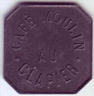 Monnaie De Nécessité - LOIRE 42 - St Etienne - Café Moulin Au Clapier 12 1/2c - Monetari / Di Necessità