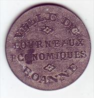 Monnaie De Nécessité - LOIRE 42 - Roanne - Ville De Roanne - Fourneaux économiques - 5c - Monétaires / De Nécessité