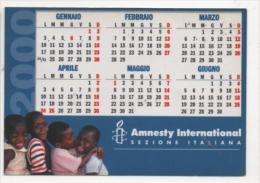 Alt466 Calendario Tascabile, Pocket Calendar, Calendrier De Poche 2000 Amnesty International Aiuto Help Bambino Children - Calendari