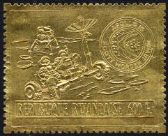Rwanda 0450A** Goud, Astronaut met cam�ra / Or astronaute et cam�ra -MNH- NO RESERVE START 1 EURO !