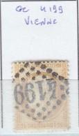 FRANCE - Dpt ISERE - S/55 - Bistre  - Céres - Oblit   GC 4199  (  Vienne  ) - Marcophilie (Timbres Détachés)