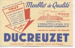 BUVARD - MEUBLES DE QUALITE - DUCREUZET - MONTLUCON - CLERMONT FD - Papel Secante