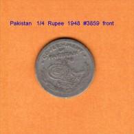 PAKISTAN    1/4  RUPEE  1948   (KM # 5) - Pakistan