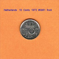 NETHERLANDS    10  CENTS  1972   (KM # 182) - [ 3] 1815-… : Kingdom Of The Netherlands