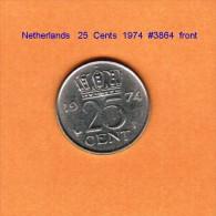 NETHERLANDS    25  CENTS  1974   (KM # 183) - [ 3] 1815-… : Kingdom Of The Netherlands