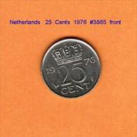 NETHERLANDS    25  CENTS  1976   (KM # 183) - [ 3] 1815-… : Kingdom Of The Netherlands