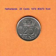 NETHERLANDS    25  CENTS  1978   (KM # 183) - [ 3] 1815-… : Kingdom Of The Netherlands
