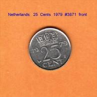 NETHERLANDS    25  CENTS  1979   (KM # 183) - [ 3] 1815-… : Kingdom Of The Netherlands