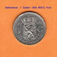 NETHERLANDS    1  GULDEN  1968   (KM # 184.a) - [ 3] 1815-… : Kingdom Of The Netherlands