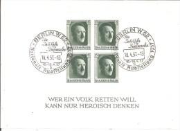 DSP133c/ BLOCK 8 NAPOSTA 1937, Mit Ausstellungsstempel