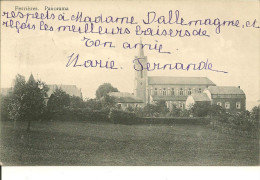 FERRIERES     PANORAMA      ( VUE  EGLISE    ECRITE   1912 ) - Ferrieres