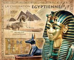CENTRAL AFRICA 2012 CIVILIZATION OF EGYPT PYRAMIDS S/S MNH CA12101B - Célébrités