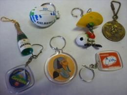 Lot De 7 Porte Clefs Champagne Mercier, Coupe Du Monde Rugby 2007, Mexico 86, Tomson3.6  Etc - Porte-clefs