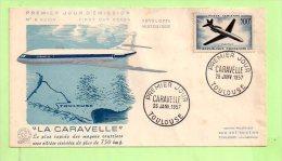 1° JOUR, YVERT N° P.A. 36 CARAVELLE - COTE 140,00 € - 1950-1959