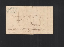 Lettre 1835 Lyon - Marcophilie (Lettres)