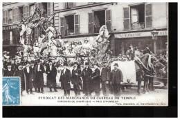 75 Paris Syndicat  Des Marchands   Du Carreau Du Temple    Concours De Chars   1912 - Paris (03)