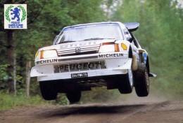 """SPORT AUTOMOBILE   L 15    """"  PEUGEOT CHAMPION DU MONDE DES RALLYES 1986   """"     CPM / CPSM  10 X 15 - Rally"""