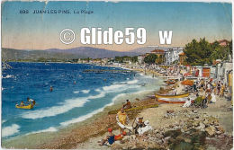 JUAN-LES-PINS - La Plage (animée) - N° 898 - Antibes