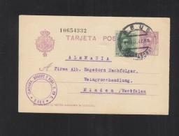 Tarjeta 1927 Reus - 1889-1931 Königreich: Alphonse XIII.