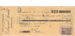 Lettre Change 28/11/ 1901 EDMOND ROUDET VinsTOULOUSE Haute Garonne Pour Verfeil - Timbre Fiscal - Lettres De Change