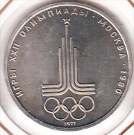 RUSIA 1977. 1 RUBLO JUEGOS OLIMPICOS MOSCU 1980 .NUEVA SIN CIRCULAR1980.CN 1178 - Rusia
