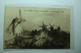 D 75 - Paris - Vieux Montmartre - Les Moulins En 1850 - Francia