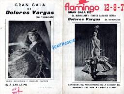 ESPAGNE - GITAN- FLAMINGO 1971- PROGRAMME GALA BAILAORA GITANA-DOLORES VARGAS- VERANO- LA TERREMOTO-FLAMENCO - Programs