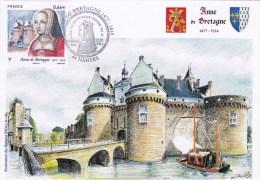 CPM Anne De Bretagne 1er Jour Du Timbre à Nantes- Dessin De R.IROLLA - France