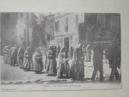 Sospel Les Franciscaines En Procession 1902 - Sospel