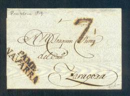1819.- PAMPLONA A ZARAGOZA - ...-1850 Voorfilatelie