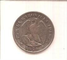 20 Centavos 1876 - Chile
