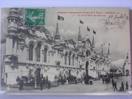 59 - EXPOSITION INTERNATIONALE DU NORD DE LA FRANCE - ROUBAIX 1911 - 51 - LE GRAND PALAIS DES MACHINES - 1911 - Roubaix