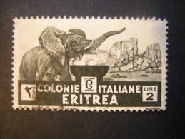 ERITREA - 1933, SOGGETTI AFRICANI, Sass. N. 210, L. 2 Nero Verdastro, Usato Garantito, Annulli Molto Belli - Eritrea