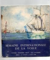 29 - BREST - PROGRAMME  SEMAINE INTERNATIONALE DE LA VOILE-COURSE CROISIERE BREST -LES CANARIES- 27 JUILLET 2 AOUT 1958 - Programs