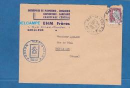 Enveloppe Ancienne - BAR LE DUC ( Meuse ) - EHM Frères - Plomberie Zinguerie Chauffage - 1962 - Cachet Union Nationale - Marcophilie (Lettres)