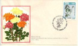 """Flore (Trompette Des Anges) Sur Lettre """"Circulo Amigos De La Filatelia""""Lima. Perù. Oblitération Illustrée Premier Jour - Peru"""