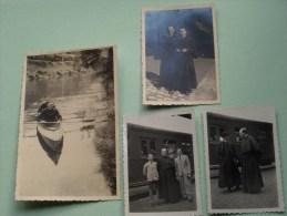 PATERS / PASTOORS - RELIGIEUX ( Père - Curé - Abt - Father ) Anno 1941 / 42 ( Zie Foto Voor Details ) !! - Photos