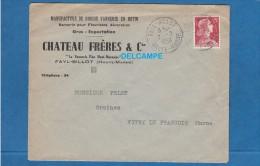 Enveloppe Ancienne - FAYL BILLOT ( Haute Marne ) - Manufacture De Grosse Vannerie En Rotin Chateau Frères - 1959 - Marcophilie (Lettres)