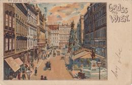 W44  --  GRUSS AUS  WIEN   ---  DER GRABEN  --  BITTE GEGEN DAS LICHT ZU HALTEN   --  1903 - Wien