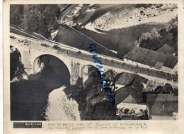 74- PONT DE BROGNY SUR LE FIER- PHOTO ORIGINALE PARIS SOIR- CYCLISME-TOUR  FRANCE 1938- 16E ETAPE AIX LES BAINS BESANCON - Ciclismo