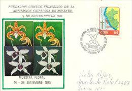 PEROU. Muestra Floral (Orchidées) . Une Enveloppe Souvenir 1985 - Orquideas