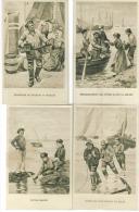 L Ot De 13 CP   Scenes De Peche Divers - Postcards
