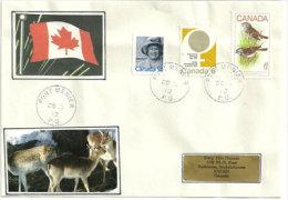 Lettre De Port.Menier , Île-d´Anticosti, Quebec., Adressée Au Canada  ( Chevreuils D´Anticosti) - Enveloppes Commémoratives