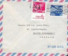 Israel Airmail Par Avion ORMECA, HAIFA 1976 Cover Lettera To Denmark Israel Landscapes W. Tabs (2 Scans) - Airmail