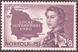 Norfolk Island 1960 Mi#40 ** Postfrisch - Ile Norfolk