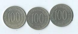 Yougoslavie 100 Dinar - Yugoslavia